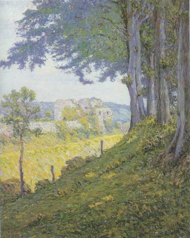 Chateau dArques, Dieppe painting, a Wynford Dewhurst paintings reproduction, we never sell Chateau
