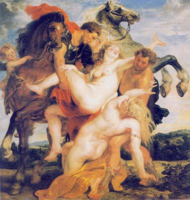 Rape of the_Daughters of Leucippus painting, a Peter Paul Rubens paintings reproduction, we never