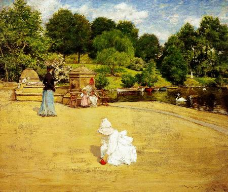 after rain painting, a William Merritt Chase paintings reproduction, we never sell after rain poster