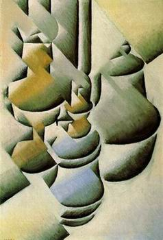 bottle and knife painting, a Juan Gris paintings reproduction, we never sell bottle and knife poster