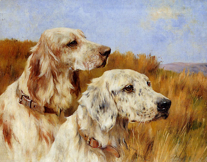 Oil Painting Reproduction of Wardle- Two Setters