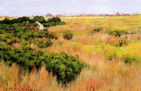 Landscape, near Coney Island painting, a William Merritt Chase paintings reproduction, we never sell