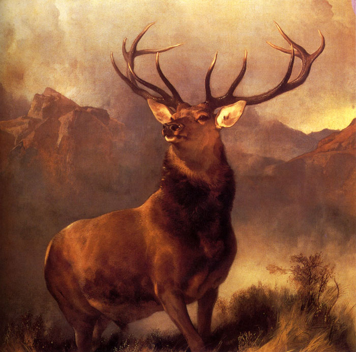 Oil Painting Reproduction of Landseer- Monarch Of The Glen