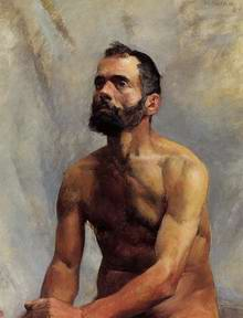 Academic Study (male) Nude, painting, a Henri de Toulouse Lautrec paintings reproduction, we never
