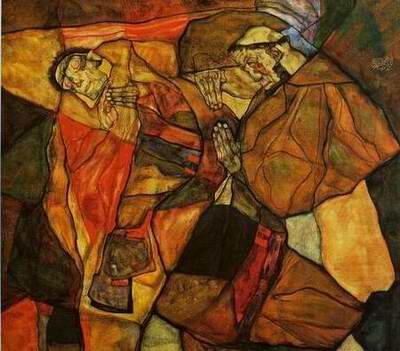 Agony painting, a egon schiele paintings reproduction, we never sell Agony poster