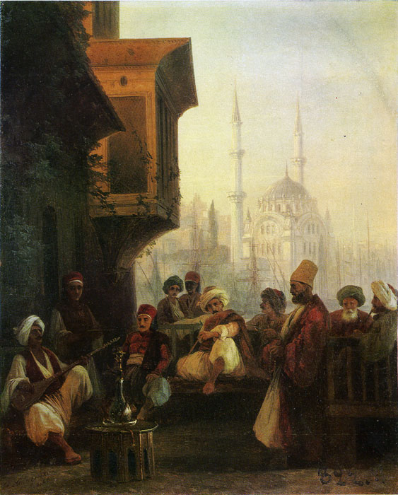 Aivazovsky Oil Painting Reproductions - Oriental Scene