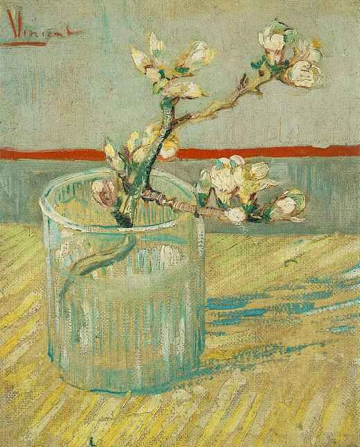 Almond Branch in a Glass painting, a Vincent Van Gogh paintings reproduction, we never sell Almond