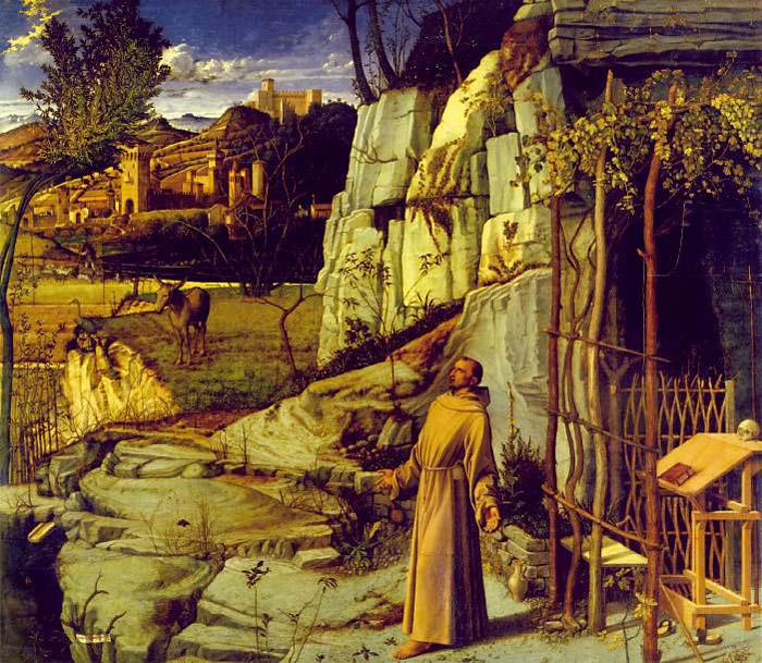 Art reproduction of Bellini - St Francis in the Desert