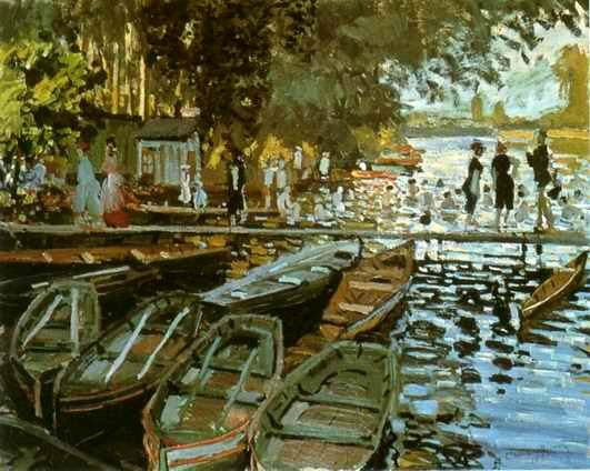 Bathers at La Grenouillere,1869 painting, a Claude Monet paintings reproduction, we never sell