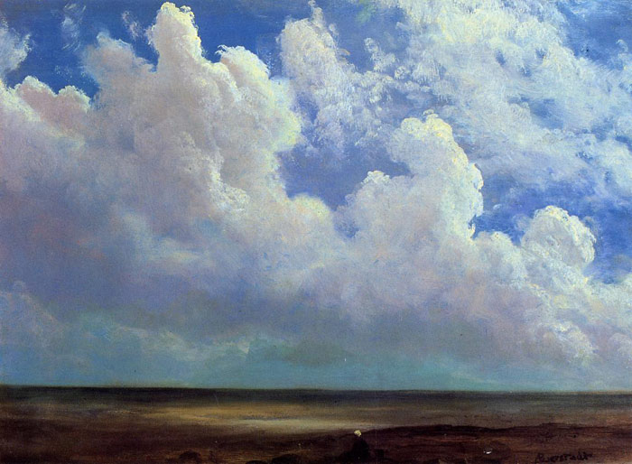 Bierstadt Oil Painting Reproductions - Beach Scene