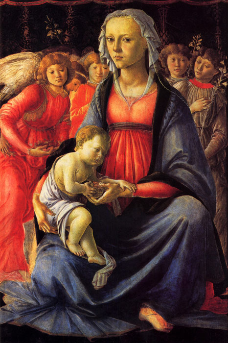 Botticelli Oil Painting Reproductions - The Virgin and Child with Five Angels