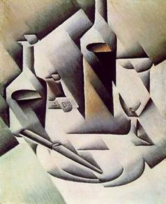 Bottles and Knife painting, a Juan Gris paintings reproduction, we never sell Bottles and Knife