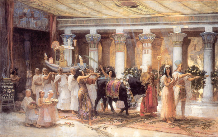 Bridgeman Oil Painting Reproductions- The Procession of the Sacred Bull Anubis