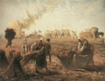 Buckwheat harvest painting, a Jea Francois Millet paintings reproduction, we never sell Buckwheat