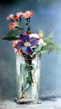 flowers in the glass