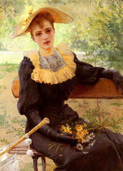 Eva ?lgem?lde, a Lucien Levy Dhurmer, French Pa ?lgem?lde Reproduktion, we never sell Eva poster