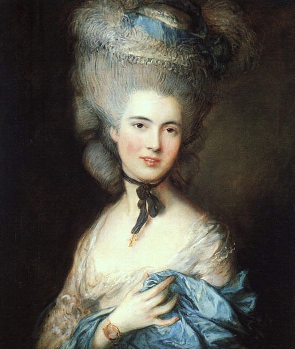Gainsborough Oil Painting Reproductions- Portrait of a Lady in Blue