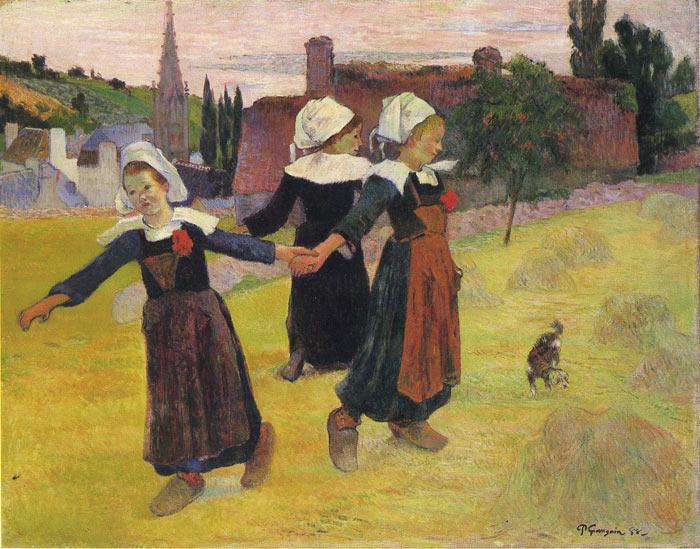 Gauguin Oil Painting Reproductions- Bretani Girls