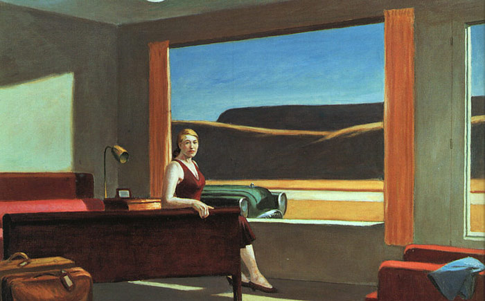 Hopper Oil Painting Reproductions- Western Motel