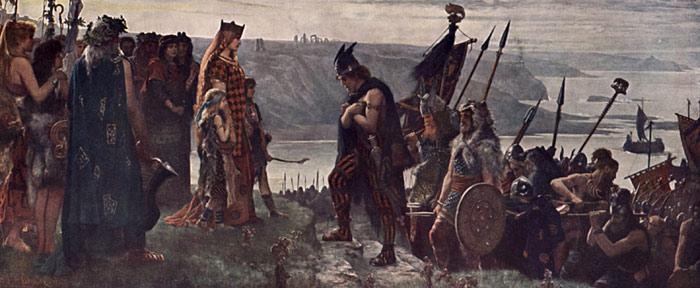 Looking over Niagara Falls painting, a Thomas Moran paintings reproduction, we never sell Looking