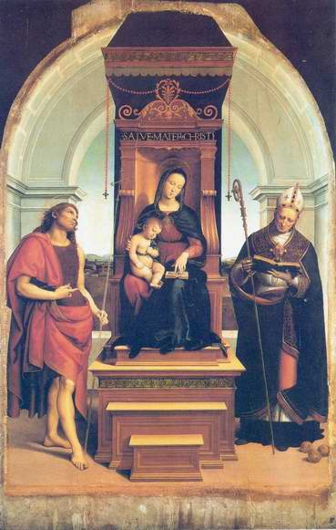 Madonna and Child (The Ansidei Altarpiece) painting, a Raphael Santi paintings reproduction
