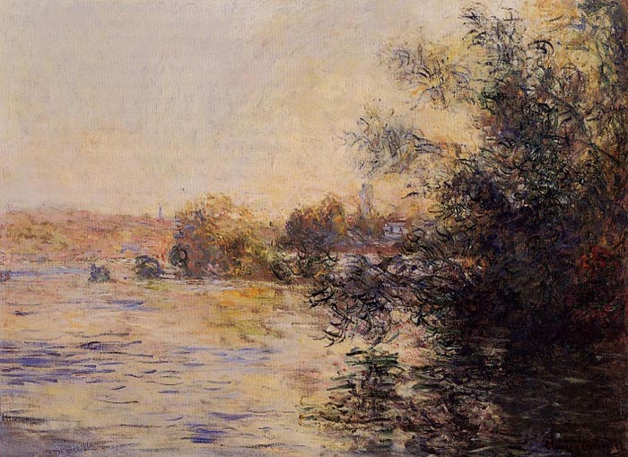 Monet Oil Painting Reproductions - Evening Effect of the Seine