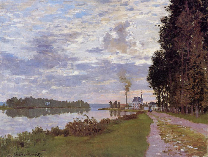 Monet Oil Painting Reproductions -The Promenade at Argenteuil