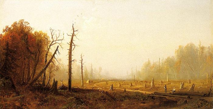 Oil Painting Reproduction of Bricher- Autumn Landscape