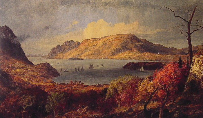 Oil Painting Reproduction of Cropsey- Gates of the Hudson