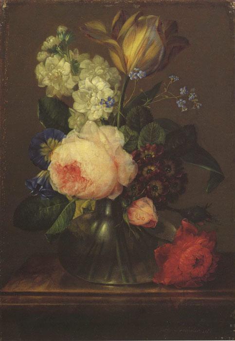 Oil Painting Reproduction of Drechsler- Kleines Blumenstuck