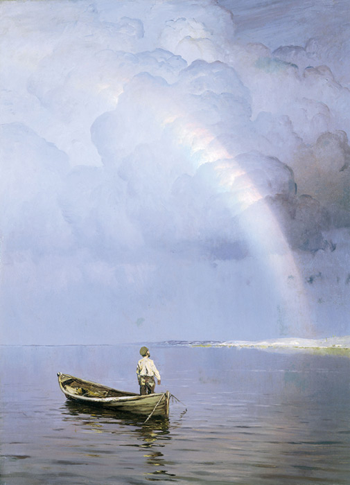 Oil Painting Reproduction of Dubovskoy - Rainbow