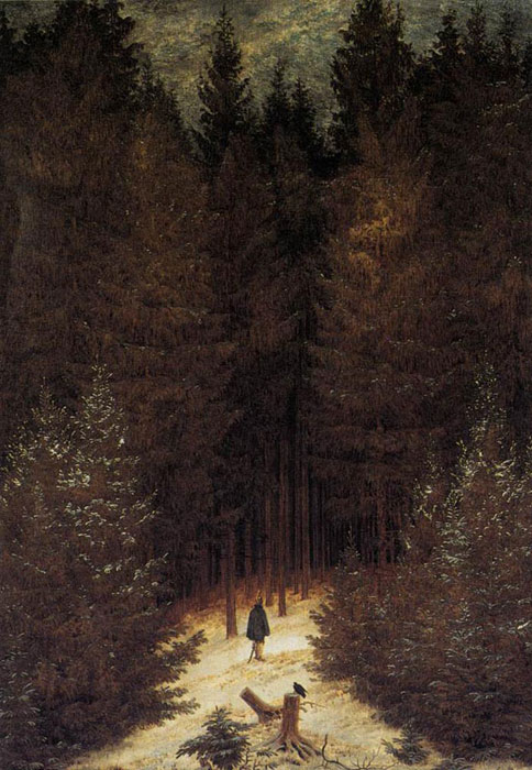 Oil Painting Reproduction of Friedrich- The Chasseur in the Forest