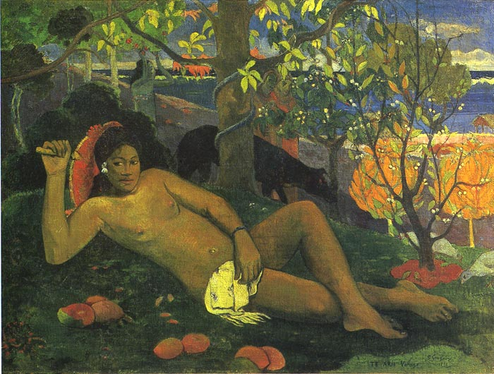Oil Painting Reproduction of Gauguin- Te Arii Vahine