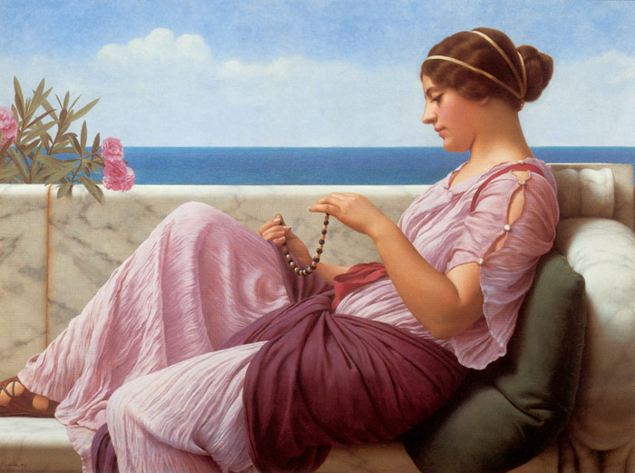 Oil Painting Reproduction of Godward- A Souvenir,