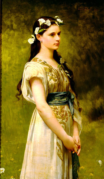 Oil Painting Reproduction of Lefebvre- Portrait of Julia Foster Ward