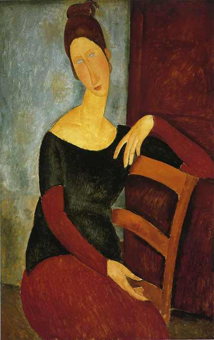 Oil Painting Reproduction of Modigliani- Jeanne Hebuterne- The Artists Wife