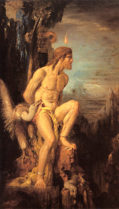 Oil Painting Reproduction of Moreau- Prometheus
