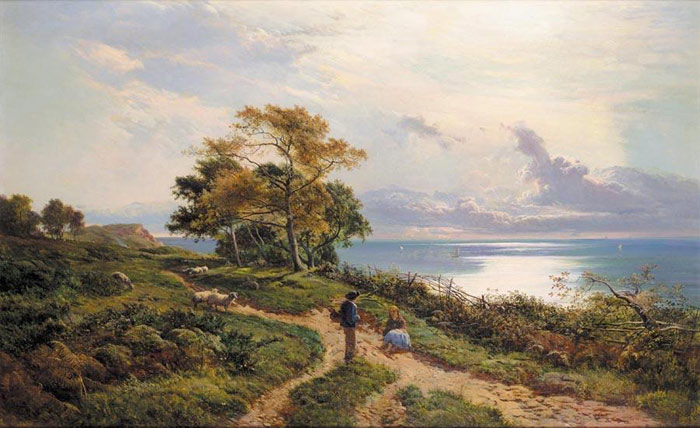 Oil Painting Reproduction of Percy- Overlooking the Bay