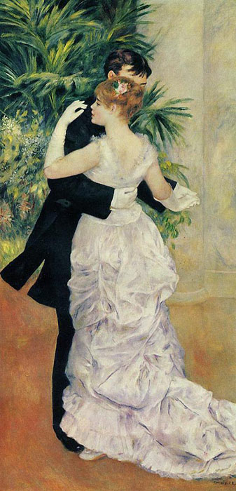Oil Painting Reproduction of Renoir- Dance in the City