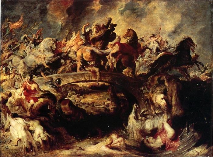 Oil Painting Reproduction of Rubens- The Combat of the Amazones