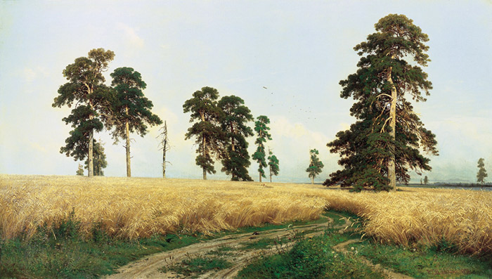 Oil Painting Reproduction of Shishkin- The Rye Field