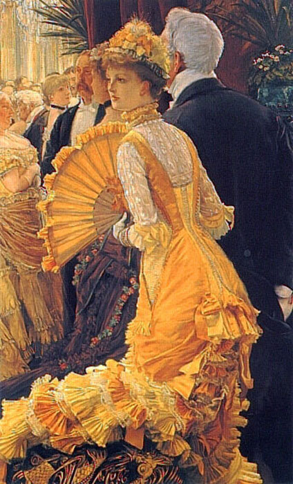 Oil Painting Reproduction of Tissot- The Ball