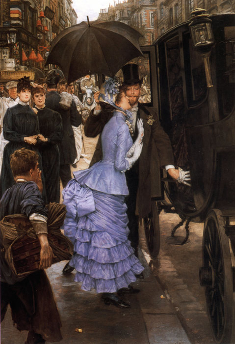 Oil Painting Reproduction of Tissot- The Traveller