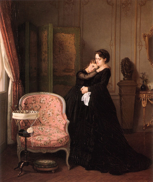 Oil Painting Reproduction of Toulmouche- Consolation