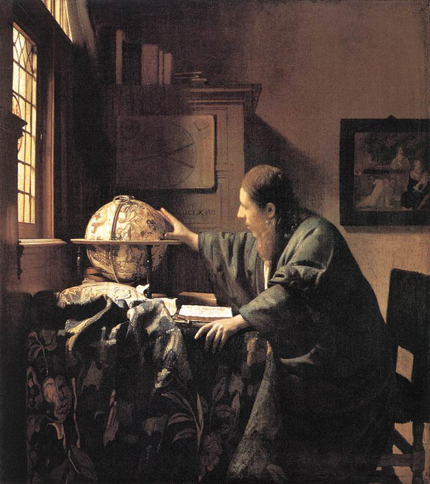 Oil Painting Reproduction of Vermeer- The Astronomer