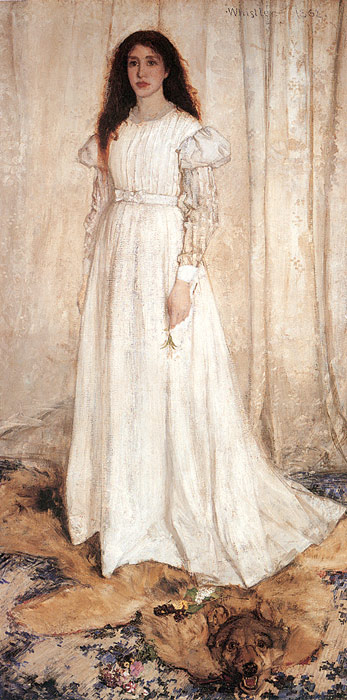 Oil Painting Reproduction of Whistler- Symphony in White No. 1: The White Girl