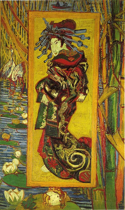 Oil Painting Reproduction of van Gogh - The Courtesan