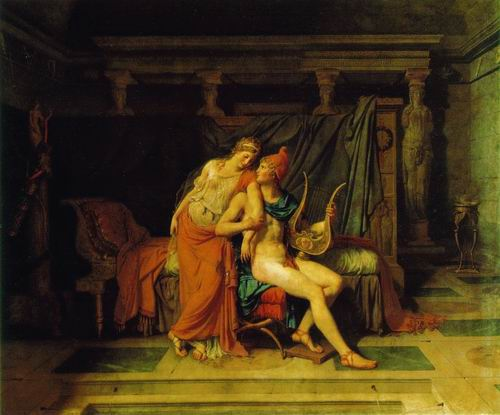 Paris and Helen painting, a Jacques Louis David paintings reproduction, we never sell Paris and