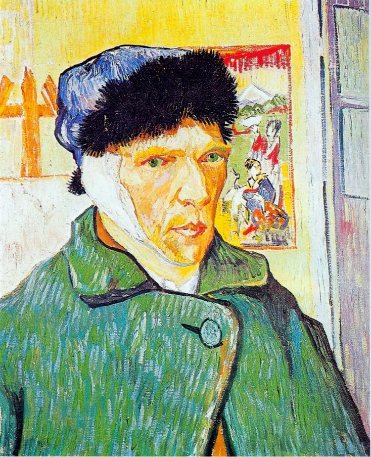 Portrait with ear cut painting, a Vincent Van Gogh paintings reproduction, we never sell Portrait