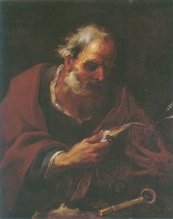 Saint Peter painting, a Pier Francesco Mola paintings reproduction